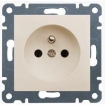 Розетка Z с заземлением HAGER LUMINA-2 WL1051 кремовый цвет