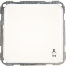 Розетка Z с заземлением с крышкой Regina белая 13001304 Polo / Hager