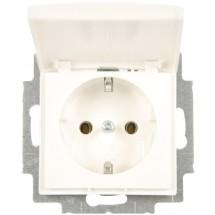 Розетка Z с заземлением / крышкой ABB Basic 55 20 EUК-94-507 16А белый цвет