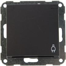 Розетка Z с заземлением / крышкой антрацит-matt Fiorena 22001320 Hager / Polo