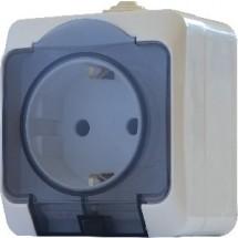 Розетка с заземлением и крышкой Р316-3-IP44N АСКО