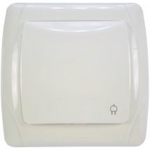 Розетка с заземлением и крышкой Viko Carmen 90561012 белый цвет