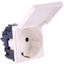 Розетка Z с заземлением / шторками / крышкой 16A ABB Zenit N2288 1 ВL белый цвет