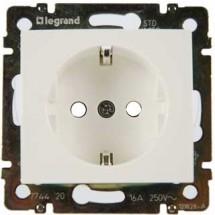 Розетка Z с заземлением / шторками Legrand Valena 774421 белый цвет