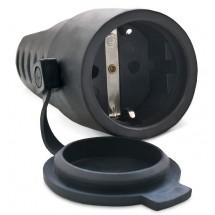 Розетка (с заземлением) в резиновом корпусе SVEN SE-2228
