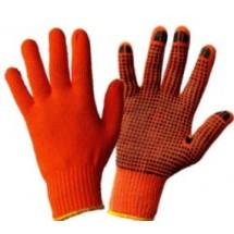 Рукавицы Х/Б оранжевые К2225