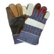 Рукавицы рабочие кожаные теплые 90-034