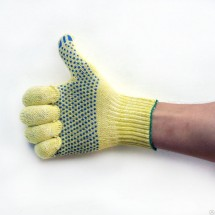 Рукавицы садовые VIROK желтые с каплями ПВХ 83V104 (10 клас;40%-бавовна,60%-поліестер)