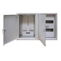 Щит металлический накладной Sabay NRL-2L 24 (1ф.+3ф) на 48 модулей 2-х дверный