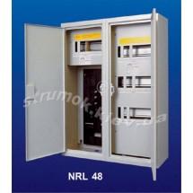 Щит металлический на 48 модулей и местом под счетчик накладной NRL-48