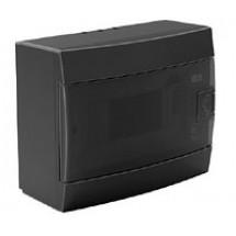 Щит пластиковый 8 модулей накладной черный Horoz 600-001-800 IP20