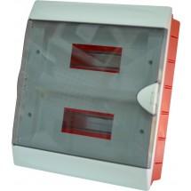 Корпус на 24 автомата пластмассовый внутренний белого цвета с дымчатой дверцей GUNSAN Visage