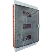 Корпус на 36 автоматов пластмассовый GUNSAN Visage, внутренний белого цвета с дымчатой дверцей