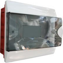 Корпус на 9 автоматов пластмассовый внутренний белого цвета с дымчатой дверцей GUNSAN Visage