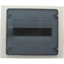 Щит пластиковый на 12 модулей врезной с прозрачной дверцей (1х12) GOLF VF112TD