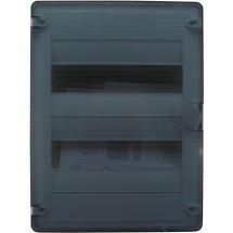 Щит пластиковый на 24 модуля накладной с прозрачной дверцей (2х12) GOLF VS212TD