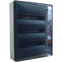 Щит пластиковый Hager GOLF на 54 модуля накладной с прозрачной дверцей (3х18) VS318TD