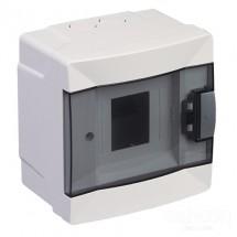 Щит пластиковый Makel 4 модуля наружный 63104 прозрачная дверца