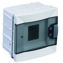 Щит пластиковый Makel 4 модуля внутренний 63004 прозрачная дверца