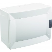 Щит пластиковый Makel 8 модулей наружный 28001229 белая дверца