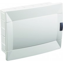 Щит пластиковый Makel 8 модулей внутренний 28001221 белая дверца