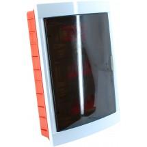 Корпус пластмассоввый встроенный с дымчатой крышкой на 36 автоматов VI-KO