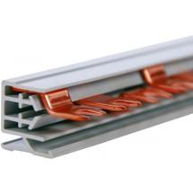 Шина соединительная Hager вилка 2-х полюсная на 57 модулей 10мм KDN 263 В