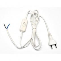 Купить. Шнур с плоской вилкой и выключателем Укрем АсКо ПА-1300-3м белый  250V ( 9b84e5fc52c