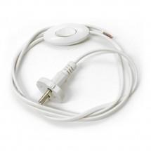 Шнур с вилкой и выключателем e. wires, белый