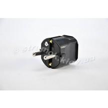 Штекер термопласт 16А, 2P+E, 250V черный цвет 1116100 АБЛ-СУРСУМ