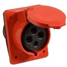 Силовая розетка / гнездо врезное ГВ 32А/4 3P+PE (424) АСКО УКРЕМ A0080030005