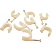 Скоба пластиковая с гвоздем №25  Укрем АсКо A0150030013