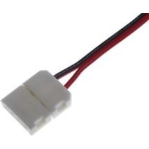 Соединитель LED ленты №6 10мм провод + зажим