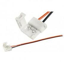 Соединитель LED RGB №8 10мм провод+зажим 02000008