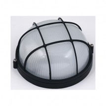 Светильник круглый решетка Horoz HL906BL 60W, Е27, черный ІР54, Ø180мм