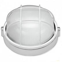 Светильник накладной круглый Ecostrum Е27 60W белый цвет IP 54 с решеткой SL-1051