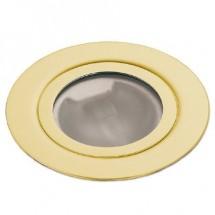 Светильник точечный Delux FL J020 (лампа JC 12V 20W в комплекте) золото 10038424