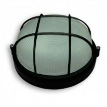 Светильник черный с решеткой Ecostrum 60W IP54 SL-1052 круг