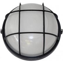 Светильник накладной Аско 0102 круглый Е27 100W черный цвет IP 54 с решеткой