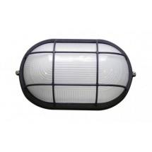 Светильник накладной Аско 0202 овальный 100W белый цвет IP 54 с решеткой