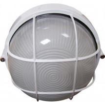 Светильник накладной Аско 0302 круглый Е27 60W белый цвет IP 54 с решеткой