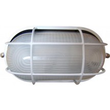 Светильник накладной Аско 0402 овальный 60W черный цвет IP 54 с решеткой