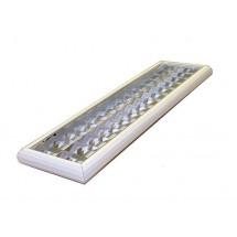 Светильник растровый накладной 2х36 опаловый рассеиватель (Харков)