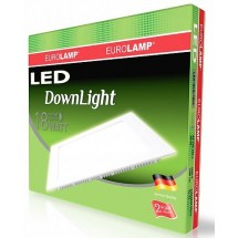 Светильник светодиодный EUROLAMP LED Downlight 18W 4000K 1550Lm SMD2835 / 90 LED-DLS-18/4 квадратный