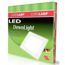 Светильник светодиодный EUROLAMP LED Downlight NEW 24W 4000K LED-DLS-24/4 квадратный