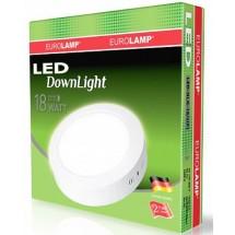 Светильник круглый EUROLAMP Downlight 18W 4000K LED-NLR-18/4(F) накладной