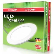 Светильник светодиодный EUROLAMP LED круглый Downlight NEW 6W 4000K LED-DLR-6/4