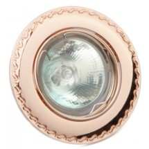 Светильник точечный DELUX HDL16138R MR16 12V French gold (французское золото с узором по наружному диаметру)