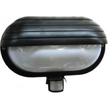 Светильник уличный с датчиком движения max 60W E27 SТ-69 BLACK EUROELECTRIC