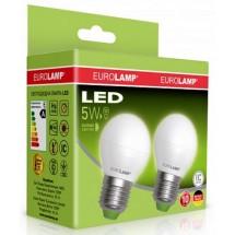 Светодиодная лампа EUROLAMP G45 5W E27 4000K LED MLP-LED-G45-05274(E) набор 2 шт